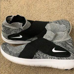 Men's Nike Free Run Motion Flyknit 2017 Black/Grey